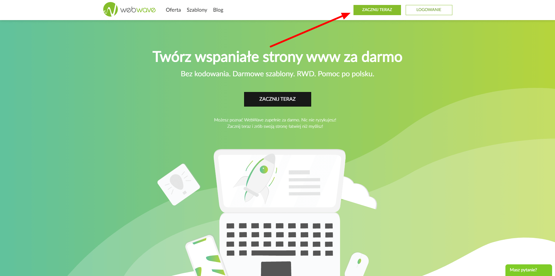 jak założyć stronę internetową w webwave