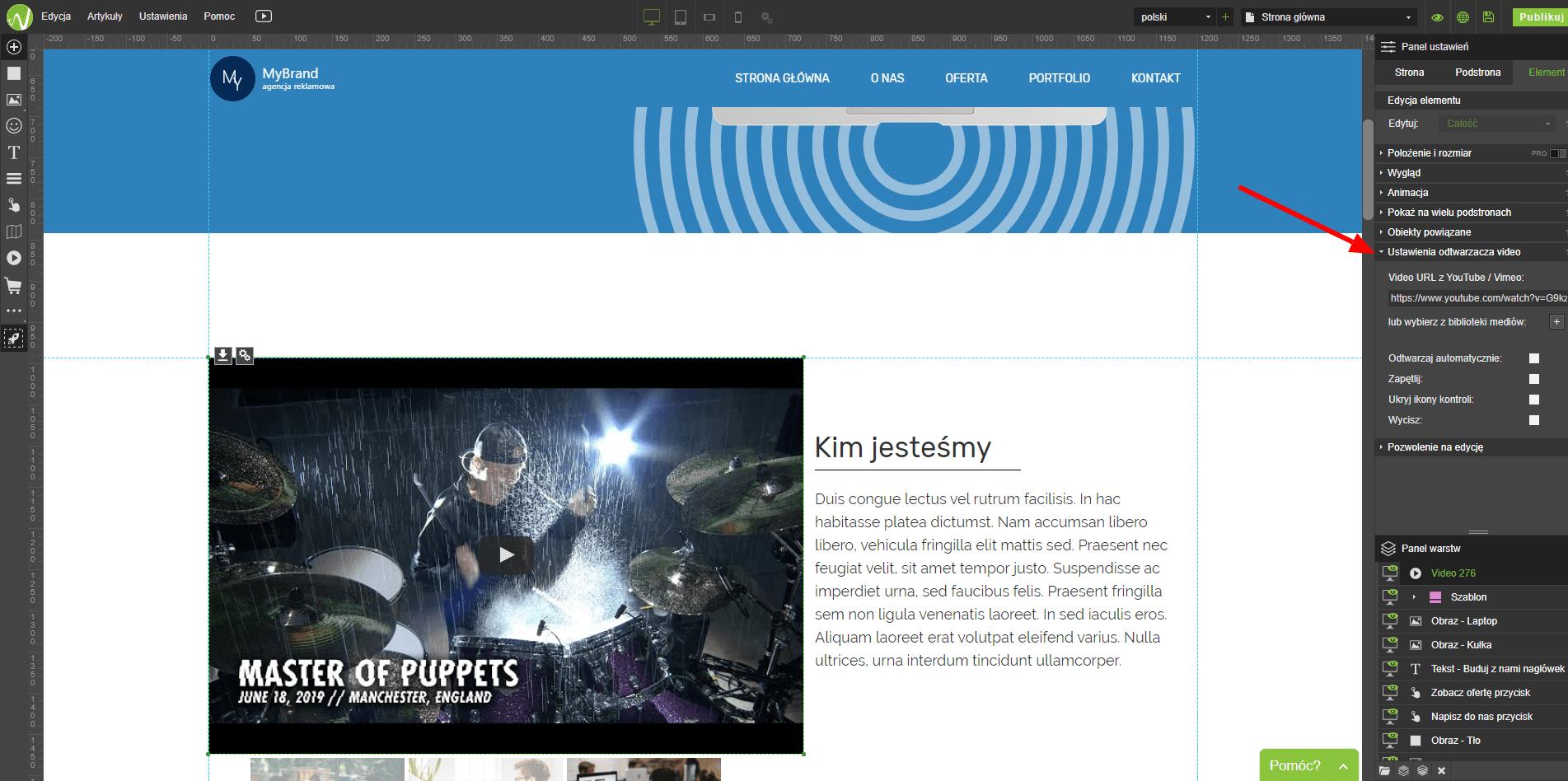 Podłączona strona internetowa